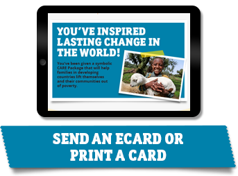 Send an e-card to a loved one to let them know you gave a donation in their honor